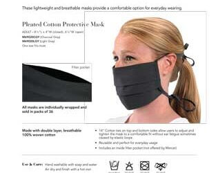 Cotton Pleated Protective Mask