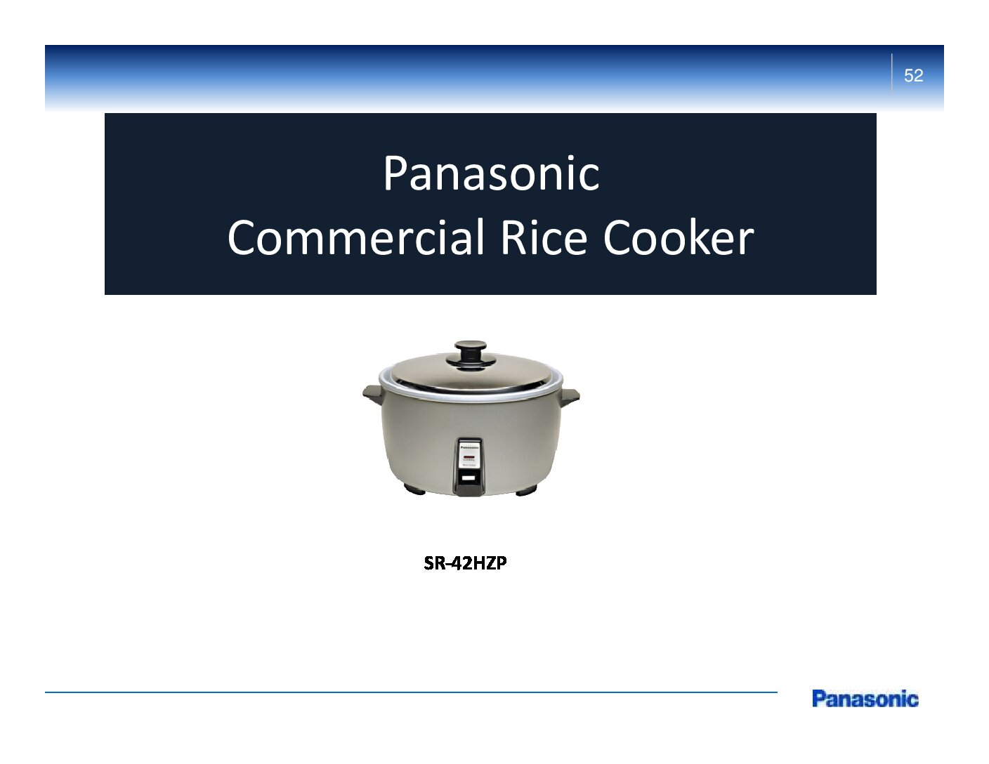 Panasonic Commercial Rice Cooker – SR-42HPZ