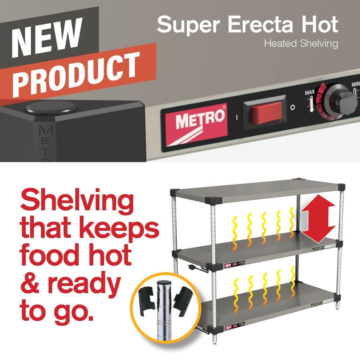 Metro's Super Erecta Hot Shelving